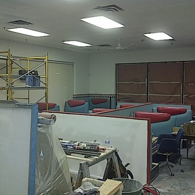 Fluorescent Lighting Installed in Restaurant Renovation