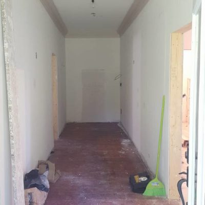 Front Entrance Hall Renovation Before in Heritage House Grimsby Ontario
