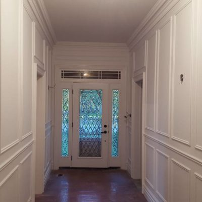 Front Entrance Hall Renovation Pre-Fixtures in Heritage House Grimsby Ontario