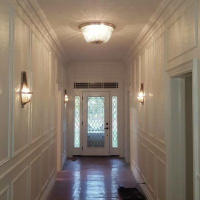 Front Entrance Hall Renovation After in Heritage House Grimsby Ontario