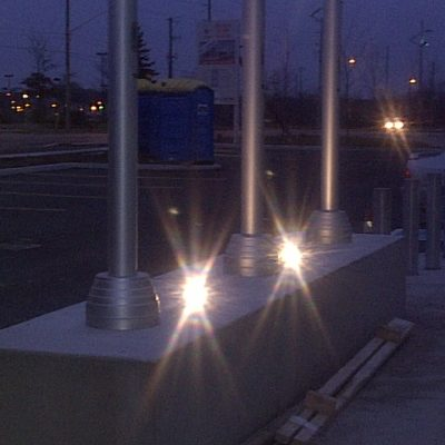Parking Lot Lighting Posts Install in Waterloo Ontario