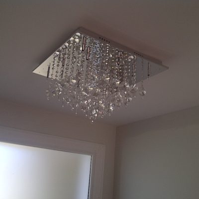 Installing a Crystal Lighting Fixture