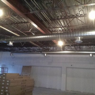 Conduits in Ceiling Ready To Paint