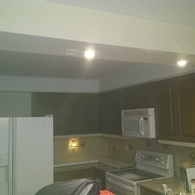 Replacing Fluorescent Lights with Pot Lights in Oakville Ontario