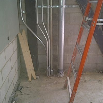 Conduit for Distribution of Services Including Security, Backup Power, UPS Camera