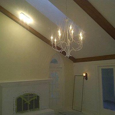 Chandelier Install in Family Room