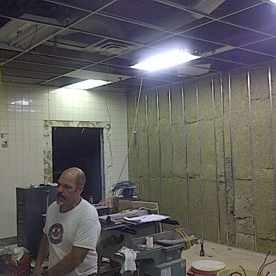 During Diner Restaurant Renovations