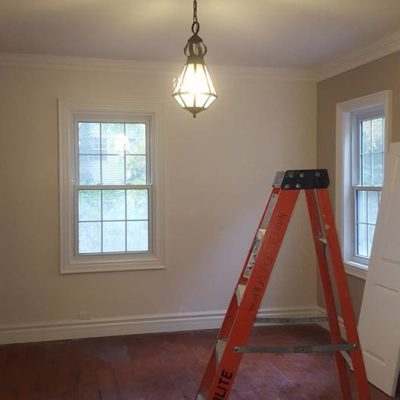 Installed 1850s Light Fixture Refurbished from Oil Lamp to Electric in Heritage House Grimsby Ontario